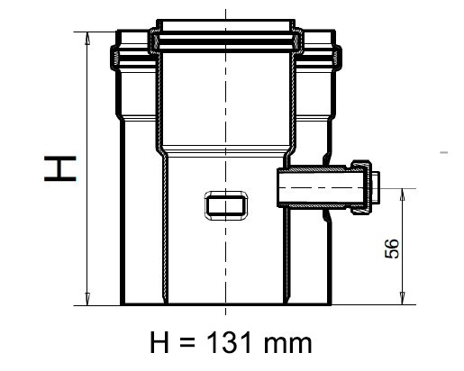 Kesselanschlussstück DN 60/100 PP/AL kompatibel Viessmann, Rotex, Remeha Brennwertabgassystem Geräte