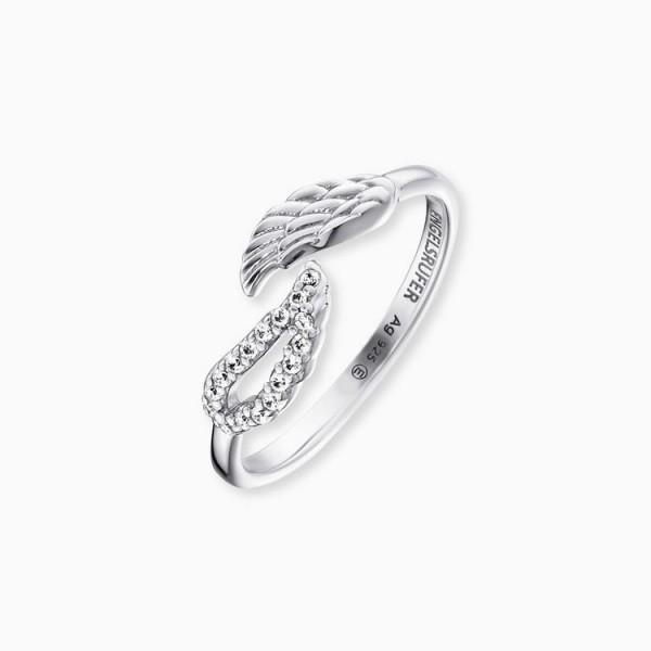 Engelsrufer Ring 54 - Sterlingsilber - Flügel Ring - Zirkonia / ERR-TWINWING-ZI