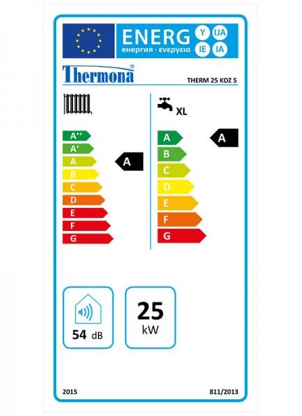 Heiztherme 2,5 - 25,0 kW Brennwerttherme mit integriertem Warmwasserspeicher Thermona THERM 25 KDZ -