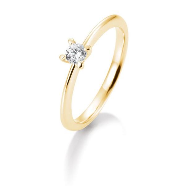 Saint Maurice Ring - Gelbgold 585 - Brillant 0,20ct Hsi / 41-05635-0-G