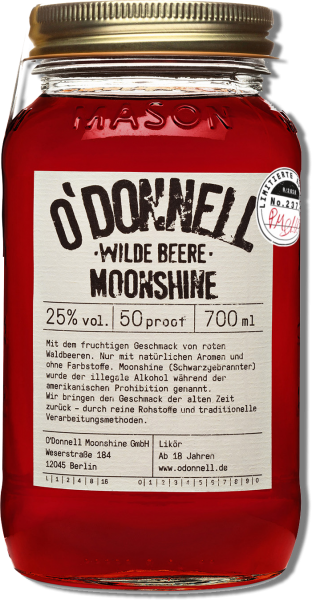 O'DONNELL MOONSHINE WILDE BEERE (700ML) LIMITED EDITION