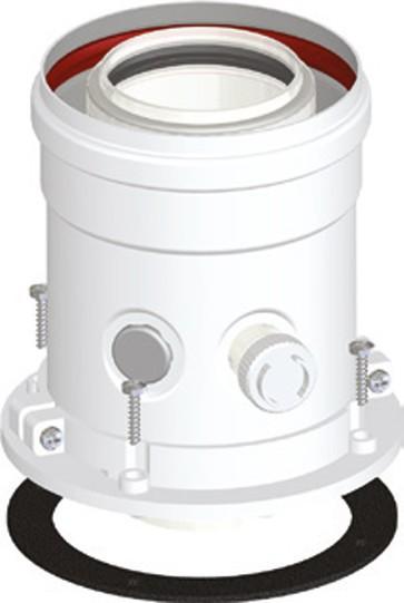 Kesselanschlussstück DN 60/100 PP/AL für Thermona® Brennwertabgassystem Geräteflange