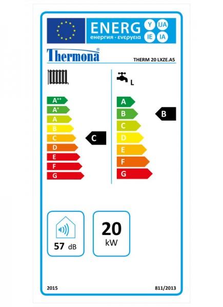 Heiztherme 8 - 20 kW mit integriertem 55 Liter Warmwasserspeicher THERMONA THERM 20 LXZE.A 5