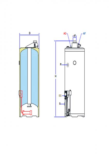 BGM/BD Multigas Warmwasseraufbereiter/Gaswarmwasserspeicher