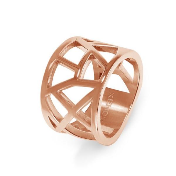Xenox Ring 54 - Edelstahl rosé - Earth - breit / X6289R/54