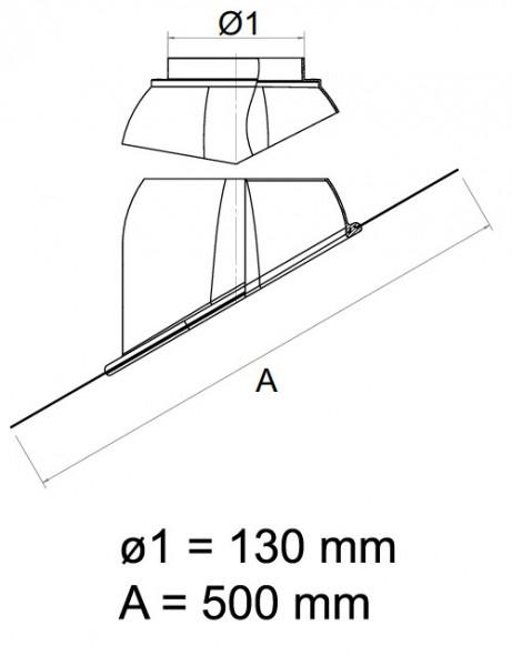 Schrägdachfanne DN 60/100 - 80/125 Rot oder Schwarz Universal Abgaszubehör Formteile Brennwertkessel