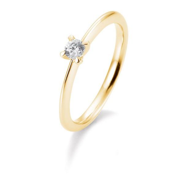 Saint Maurice Ring - Gelbgold 585 - Brillant 0,15ct Hsi / 41-05634-0-G