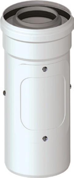 Koaxialrohr mit Revisionsöffnung DN 80/125 Universal Abgaszubehör Formteile Brennwertkessel