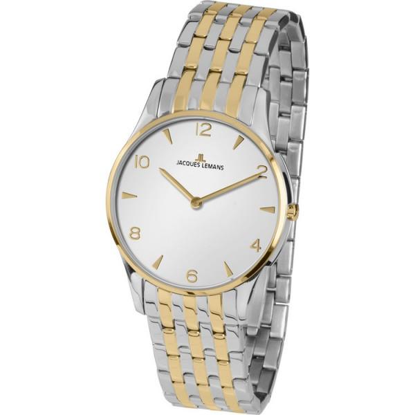Jacques Lemans Uhr - Edelstahl bicolor - London Dame - 1-1853ZE / 1-1852ZE