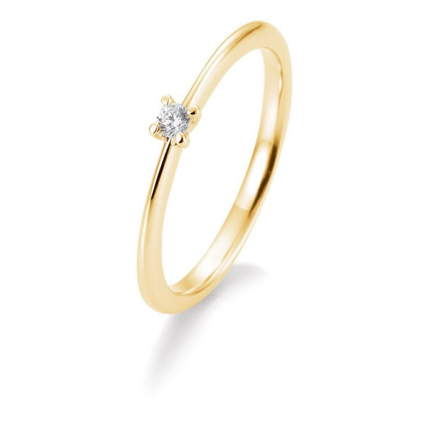 Saint Maurice Ring - Gelbgold 585 - Brillant 0,05ct Hsi / 41-05632-0-G