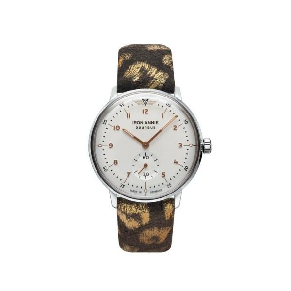 Iron Annie Uhr - Iron Annie - Bauhaus - oliv/goldfarben / 5037-4