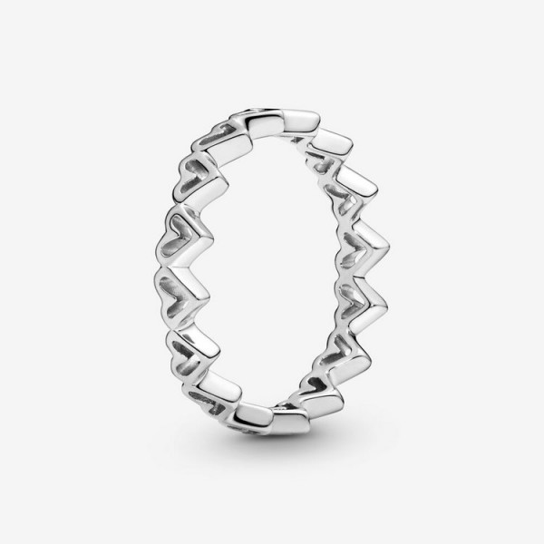 Pandora Ring 52 - Sterlingsilber - Freehand Hearts / 198696C00-52