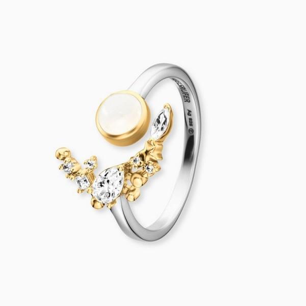 Engelsrufer Ring 54 - Sterlingsilber - Moonlight - Zirkonia / ERR-LILMOON-MO-BIG