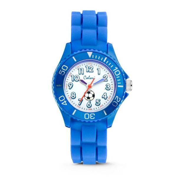 Colori Uhr - Colori - Kids - blau weiß - Fußball / 52011