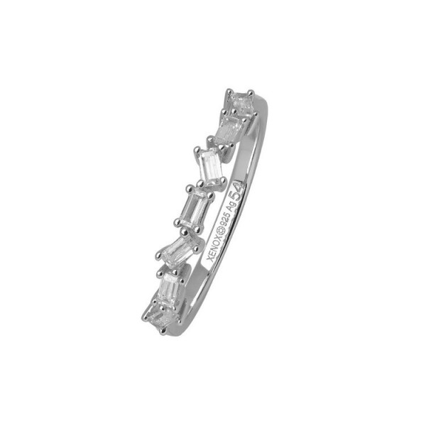 Xenox Ring 56 - Hollywood - Silber - Steine Baquette / XS1962/56