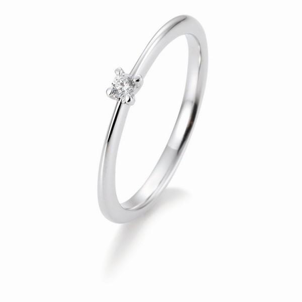 Saint Maurice Ring - Weißgold 585 - Brillant 0,05ct Hsi / 41-05632-0-W
