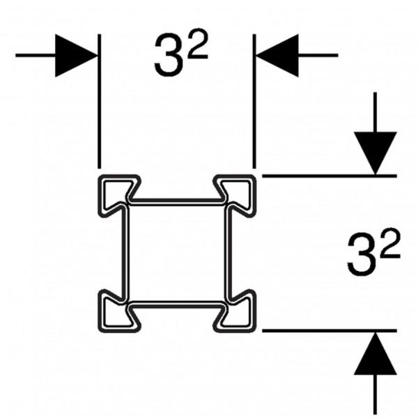 Geberit GIS Stahl Profil verzinkt 3.2x3.2cm 5 Meter Stange