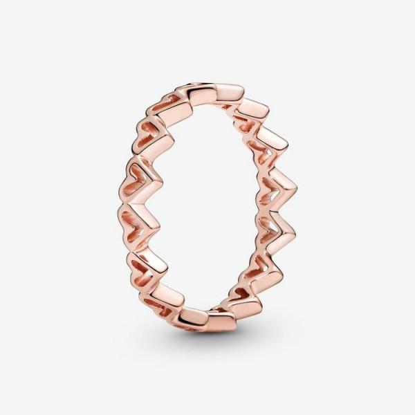 Pandora Ring 54 - Sterlingsilber - Freehand Hearts / 188696C00-54